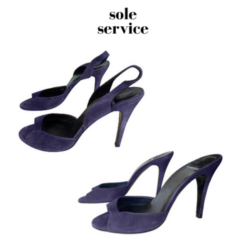 Sole Service before and after slingbacks converted into mules