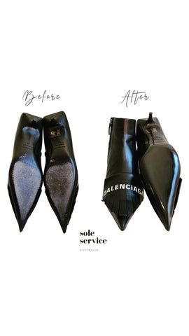 Balenciaga soles restoration by Sole Service