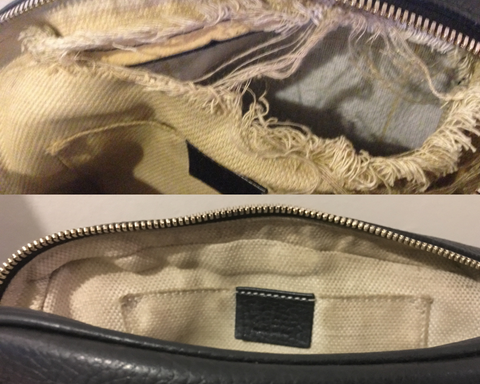 Gucci Marmont Lining repair by Sole Service