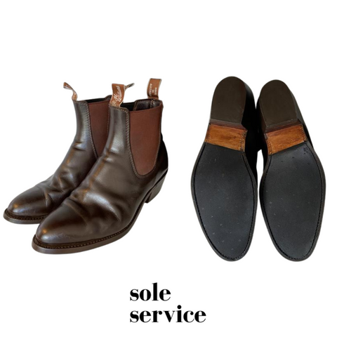 RM Williams Half resole in rubber and reheel | Sole Service