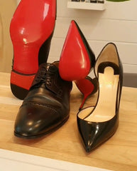 Louboutin ladies and mens after