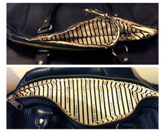 Status Anxiety Handbag Zip Replacement - Before and After Sole Service