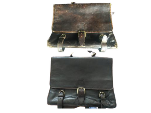 Vintage satchel restoration before and after Sole Service