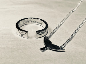 LoveTheOceans Whale necklace