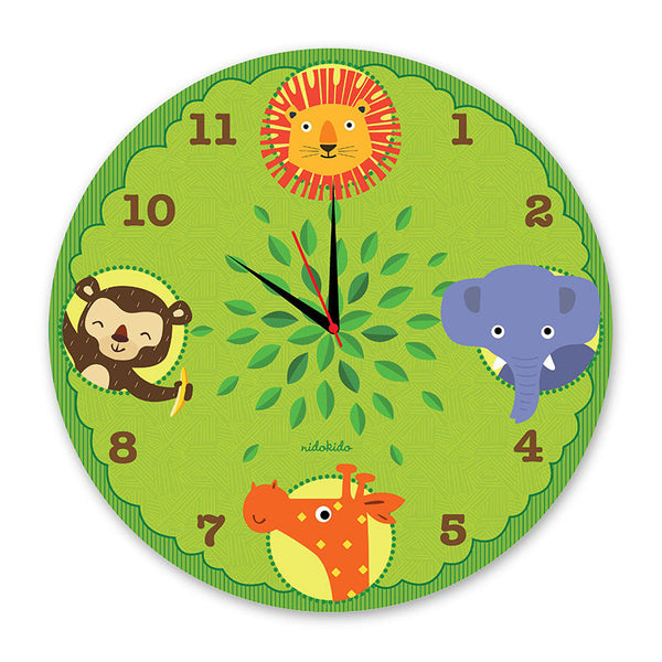 NidoKido Animals Wall Clock