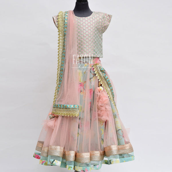 Acqua Emb Choli with Lehenga