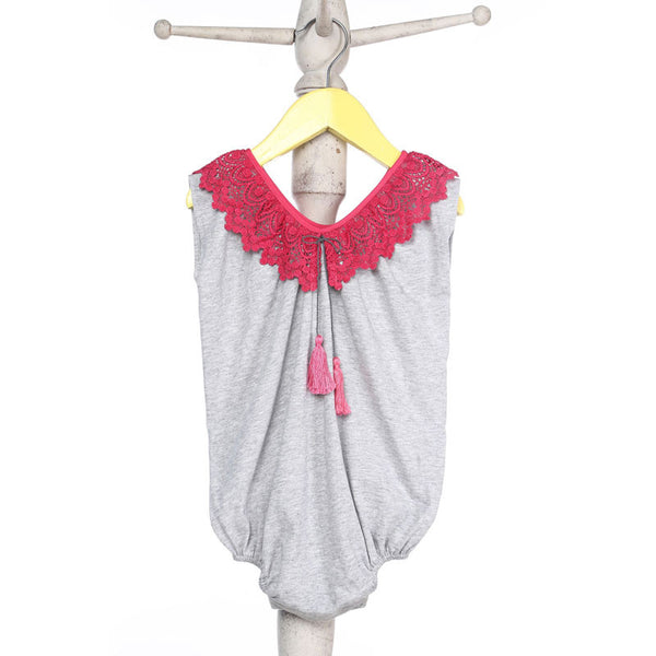 Mi Dulce An'ya Romper with Bright lace collar for Baby Girls