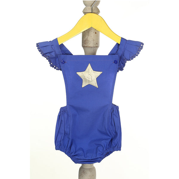 Mi Dulce An'ya Star applique Romper for Baby Girls