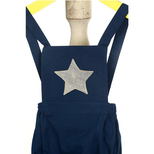 Mi Dulce An'ya Star applique Romper for Baby Boys