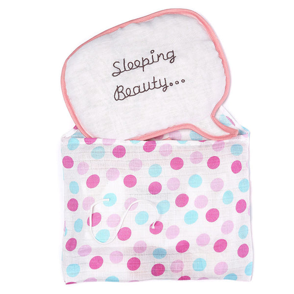 Mi Dulce An'ya 3-pc Gift Bag with call out embroidered blanket, onesie and cushion