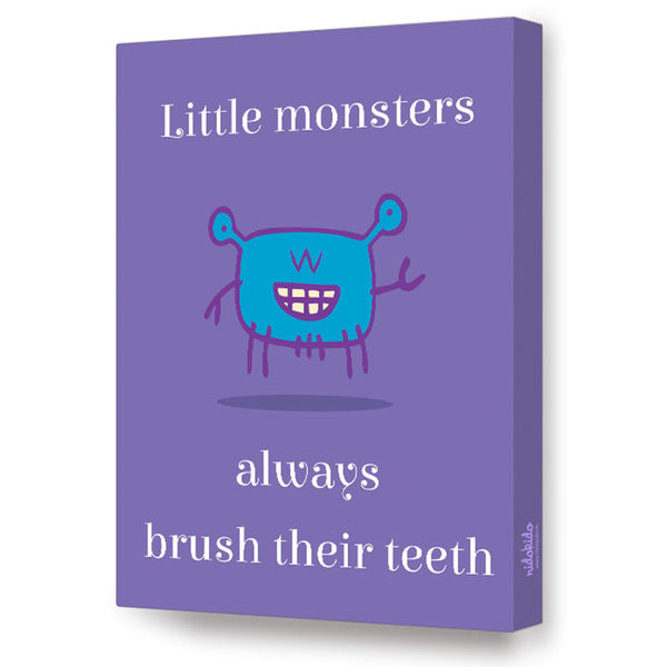 NidoKido Little Monster Series - Brush your teeth, Canvas