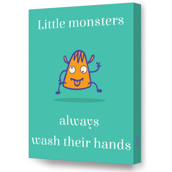 NidoKido Little Monster Series - Wash your hands; Canvas