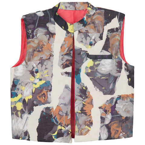 Hickory Dickory Abstract Print Grey Jacket