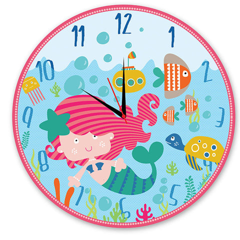 NidoKido Mermaid Wall Clock