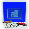 NidoKido Personalised Blue Photo Frame with Car Motif