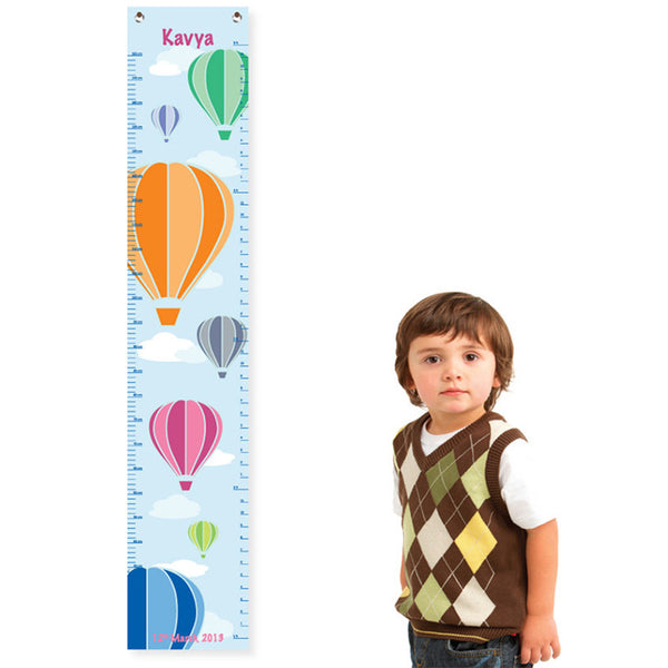 NidoKido Personalized Growth Chart - Air Balloon