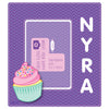 NidoKido Personalised Purple Photo Frame with Cupcake Motif