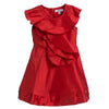 Aure Red Afetta with Ruffles & Sequin Work