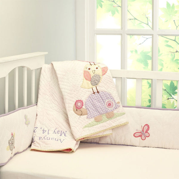 Little West Street Baby Girl Quilt - Chirpy Friends