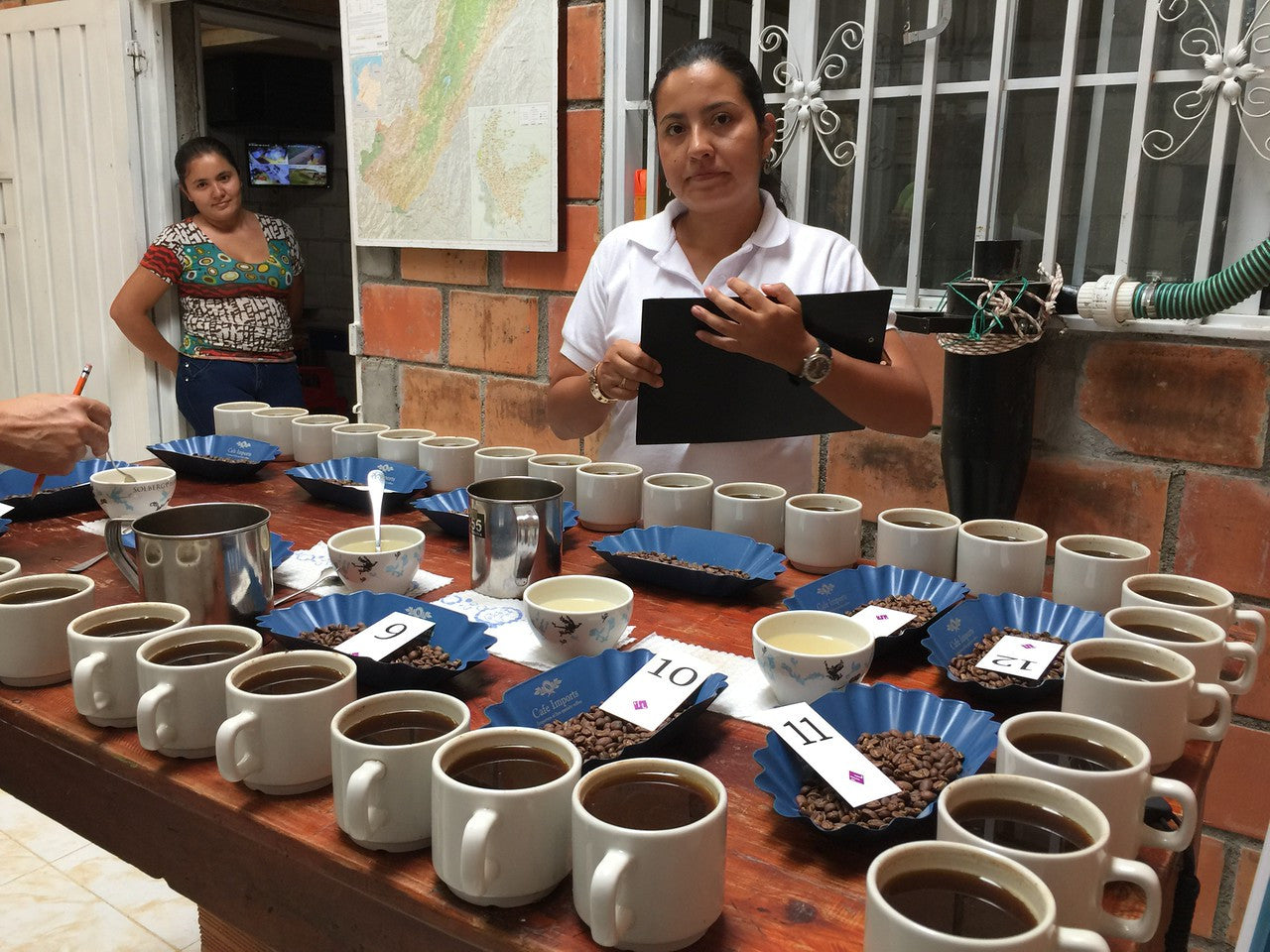 Ongoing cupping with Nordic Approach team. See! mugs are totally fine! Multiple cups of each lots is important as it can shows how consistent a lot actually is