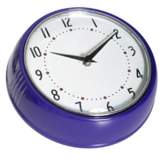1950's Swedish Design Purple Wall Clock