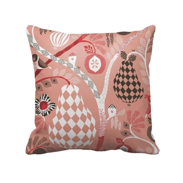 Fruit Garden Pink Cushion