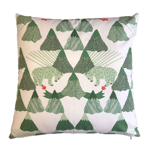 Skades Langtan Green 50x50cm Cotton Cushion Cover