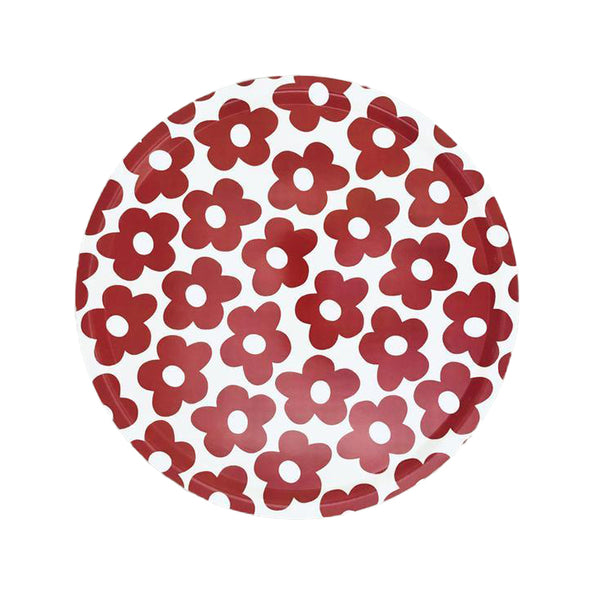 Blomma Red Birchwood Ø46cm Round Tray