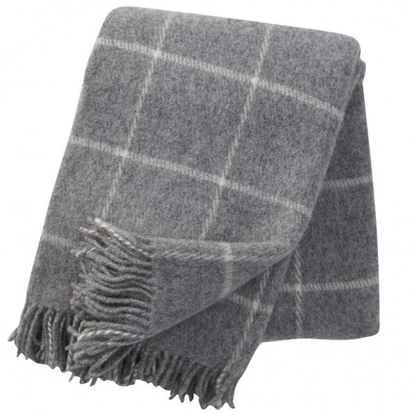 Vinga Light Grey Lambswool Throw