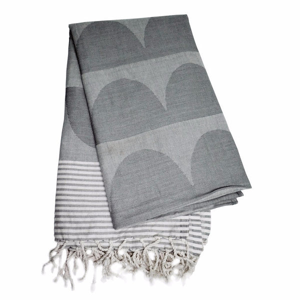 Tu Es La Vague Grey Go Undercover Blanket - Northlight Homestore