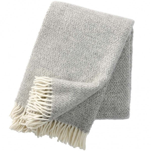 Stella Light Grey Lambswool Throw