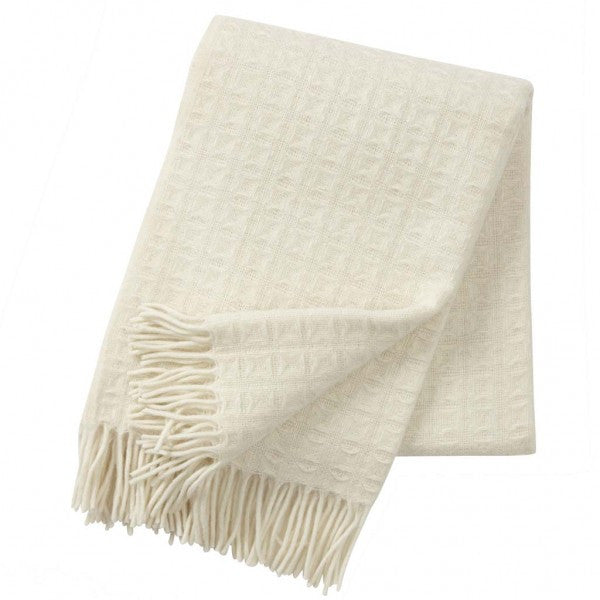 Twist Natural White Lambswool Throw