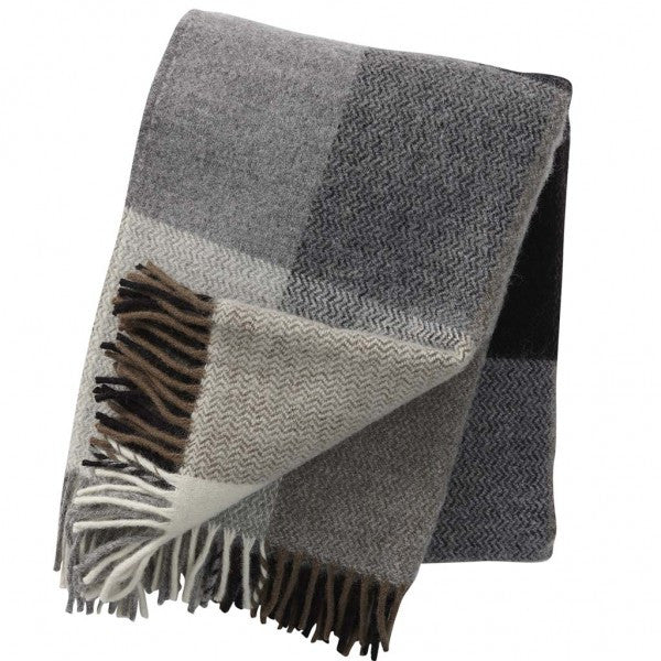 Inez Grey Lambswool Throw