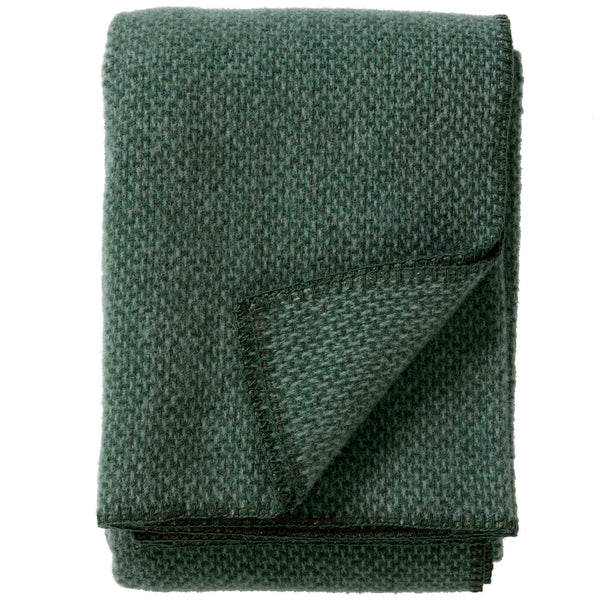 Domino Green 130x180cm Brushed Lambswool Throw