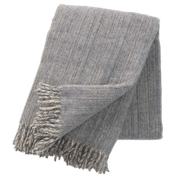 Klippan Björk Grey Wool Throw