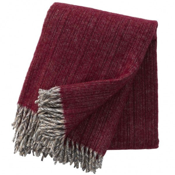 Klippan Björk Cherry Wool Throw
