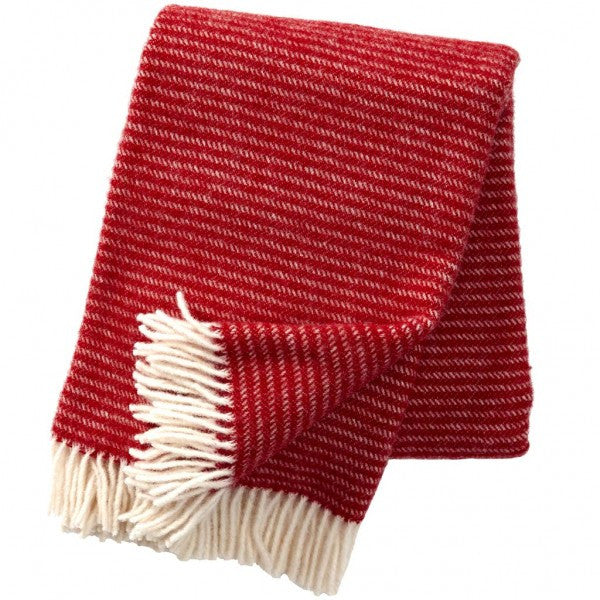Ralph Red Lambswool Blanket - Northlight Homestore