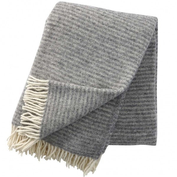 Ralph Light Grey Lambswool Blanket