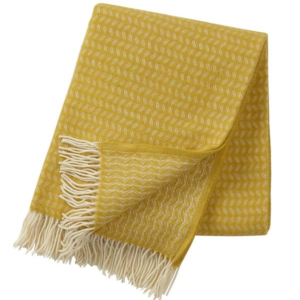 Leaf Yellow 130x200cm Premium Wool Throw