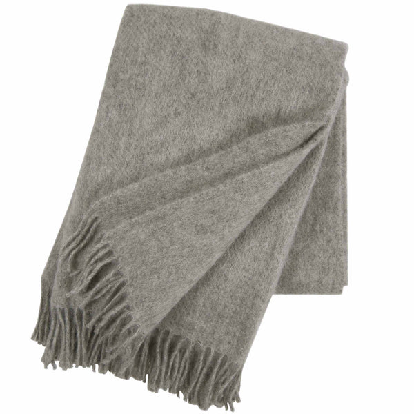 Gotland Grey 130x200cm Brushed Wool Throw