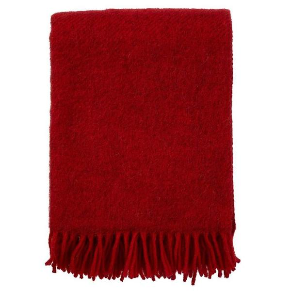 Gotland Red 130x200cm Brushed Wool Throw
