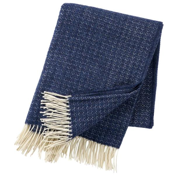 Himalaya Sea Blue Premium Wool Throw