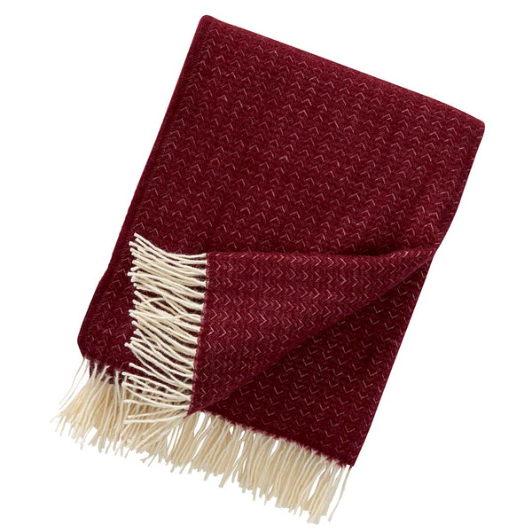 Himalaya Bordeaux Premium Wool Throw