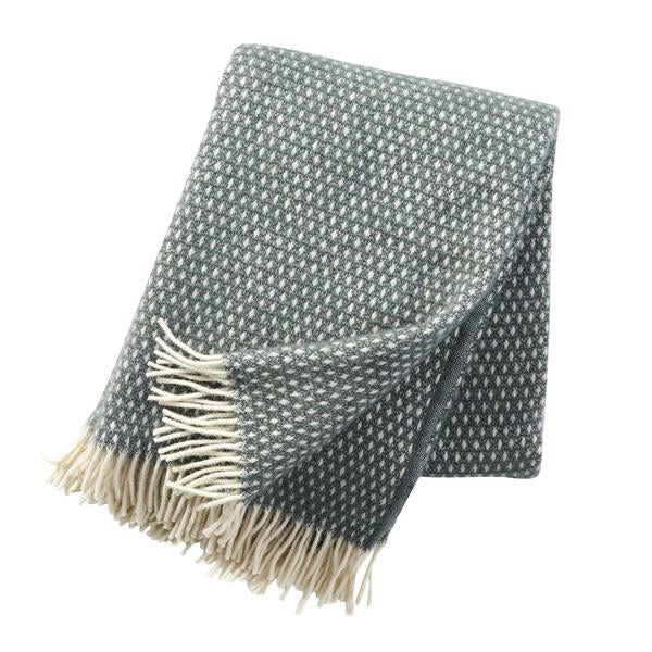 Knut Balsam Green 130x200cm Lambswool Throw