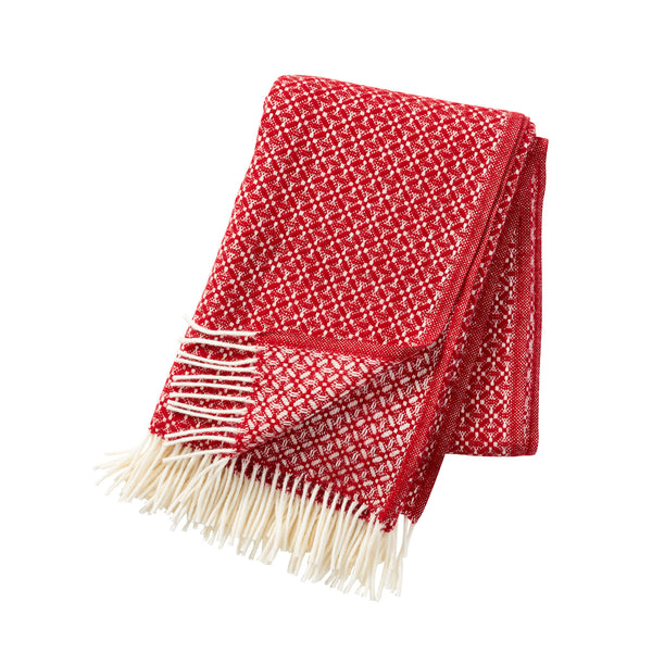 Dahlia Red 130x200cm Lambswool Throw