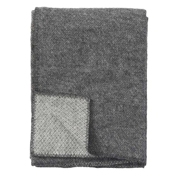 Peak Grey Wool Throw