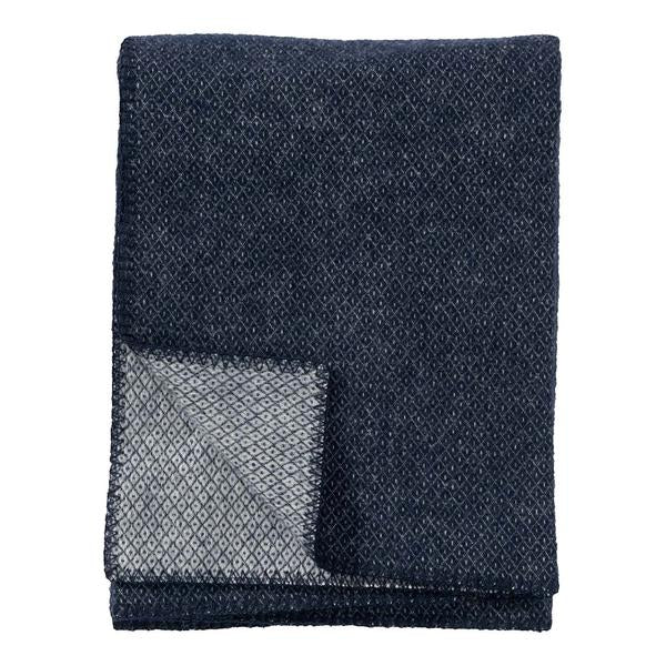 Peak Dark Denim Wool Throw