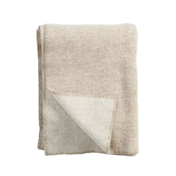 Peak Natural Beige Wool Throw