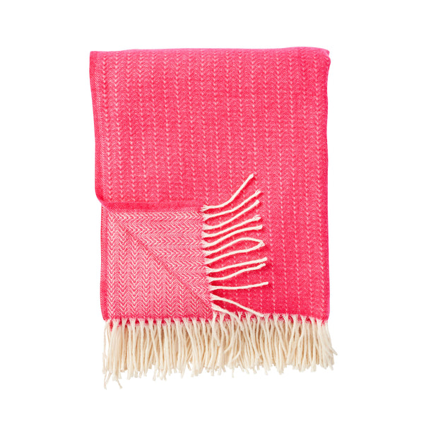 Pin Stripe Pink Premium Wool Throw