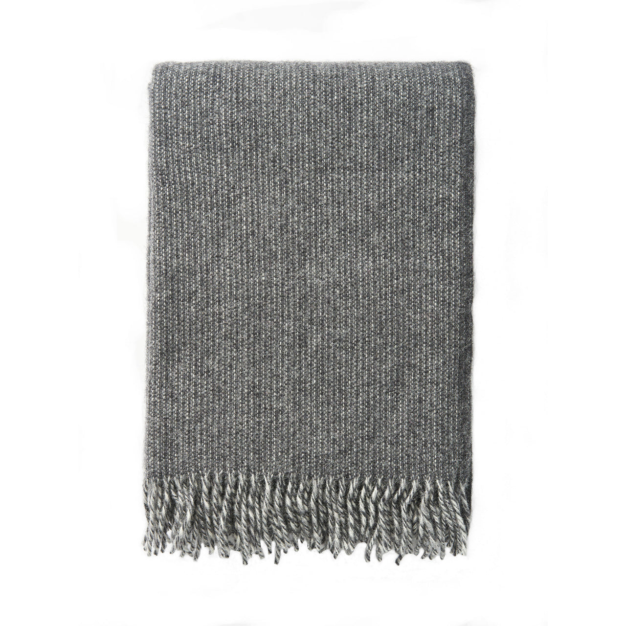 Shimmer Grey 130x200cm Brushed Lambswool Throw